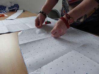Marking the pleats