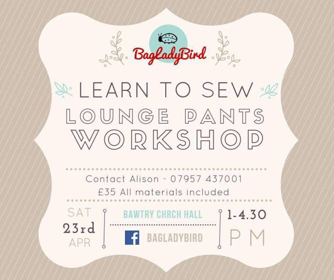 Learn to Sew Lounge Pants Workshop