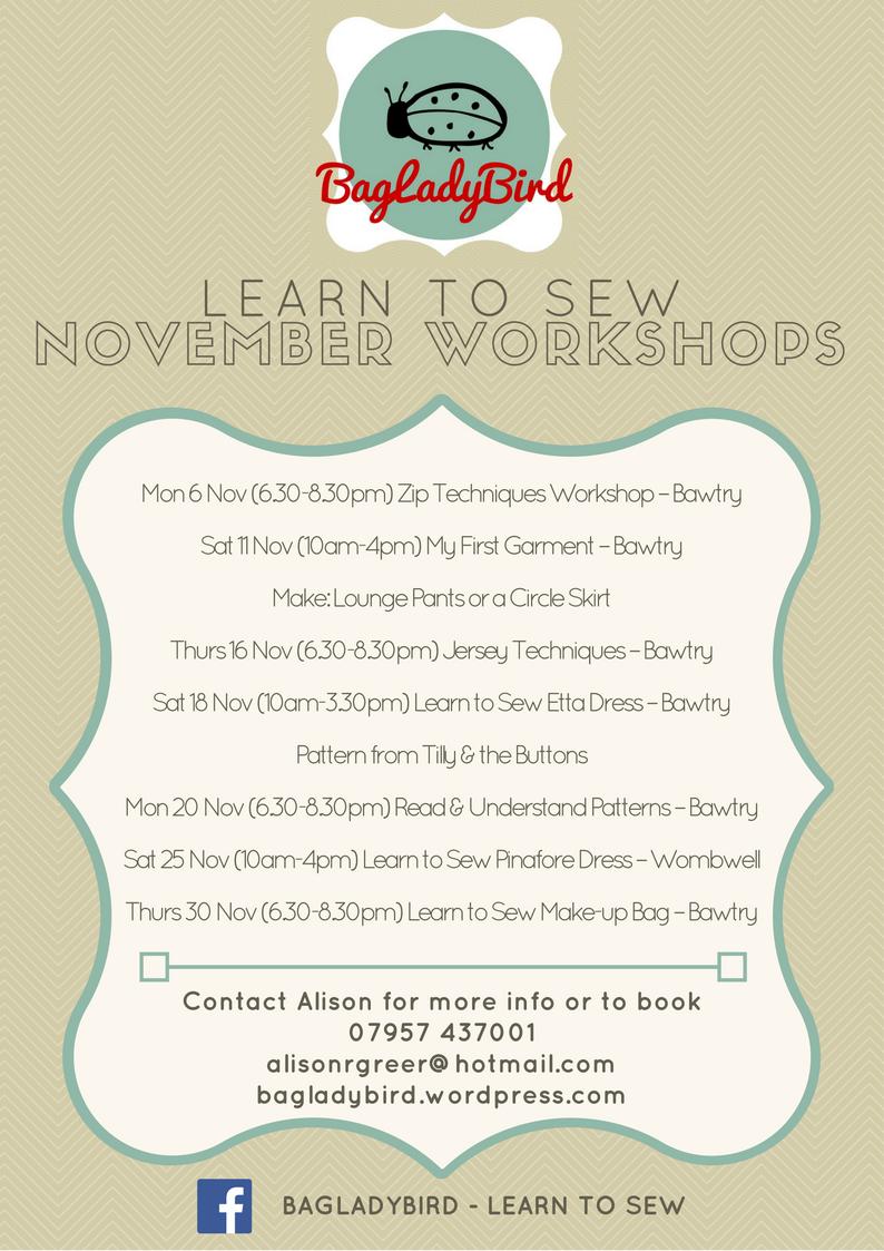 November 2017 Workshops A4