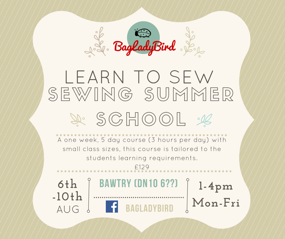 Sewing Summer School - Aug 2018